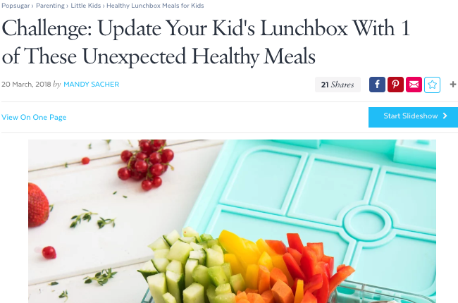 Challenge: Update your kids lunchbox with one of these unexpected healthy meals
