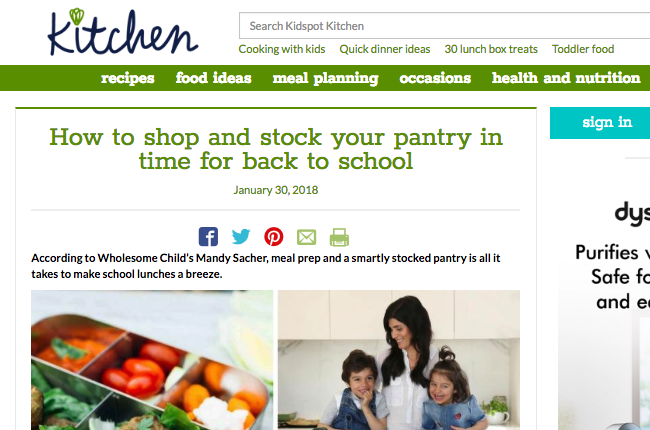 How to shop and stock your pantry in time for back to school
