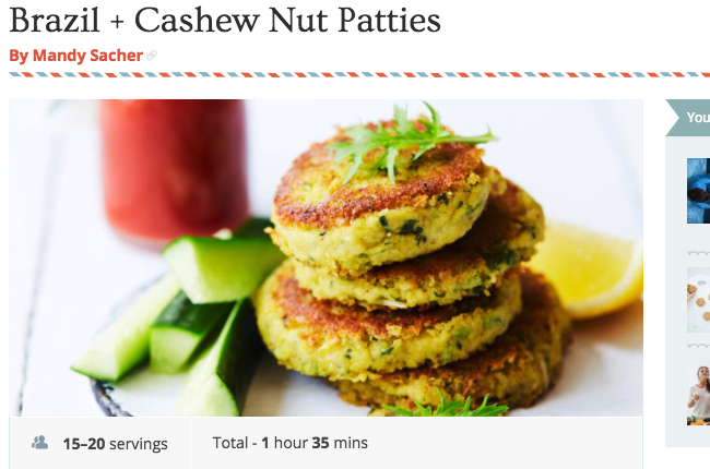Brazil + Cashew Nut Patties