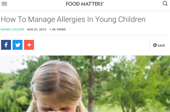 How To Manage Allergies In Young Children