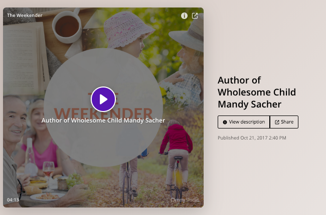 Podcast: Author of Wholesome Child Mandy Sacher