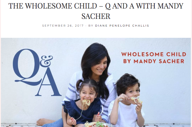 THE WHOLESOME CHILD – Q&A WITH MANDY SACHER