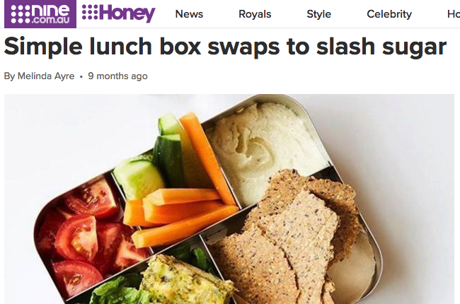 Simple lunch box swaps to slash sugar