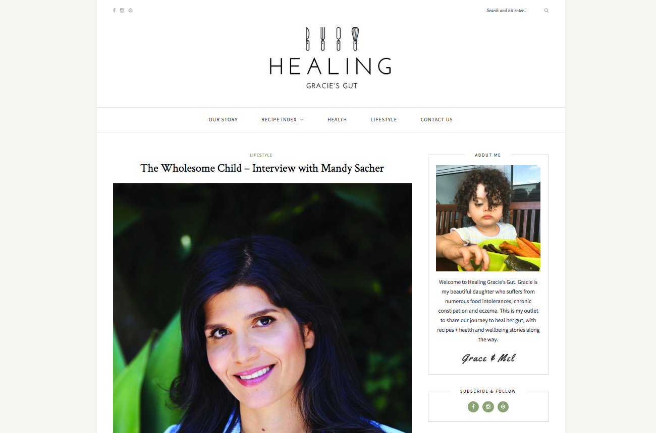 The Wholesome Child – Interview with Mandy Sacher