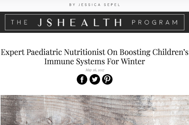 Expert Paediatric Nutritionist On Boosting Children's Immune Systems For Winter