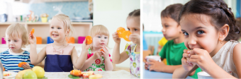 kids eating at child care